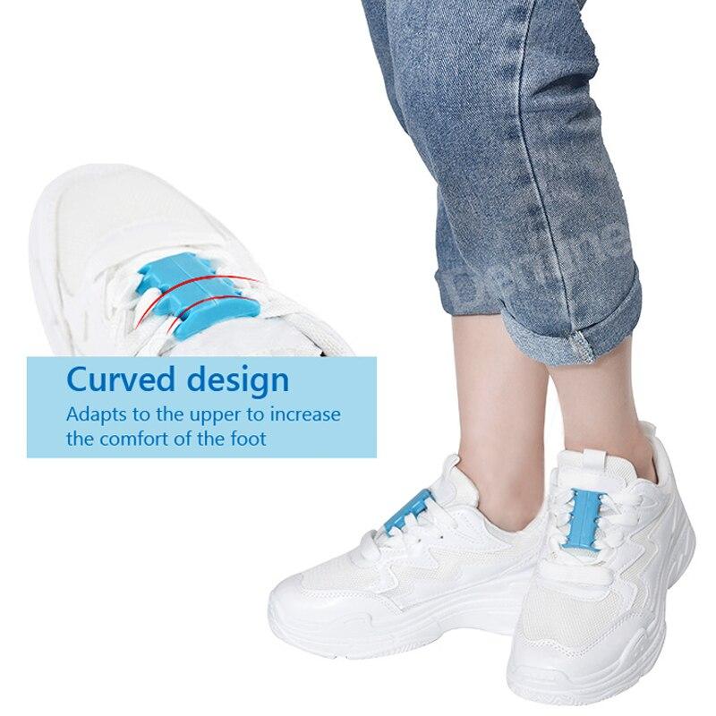 1 пара шнурки на плоской подошве с магнитной пряжкой