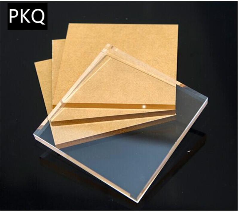 2pieces/lot Clear Acrylic Plexiglass Sheet DIY Cut Plastic Board Perspex Panel Thickness 1mm