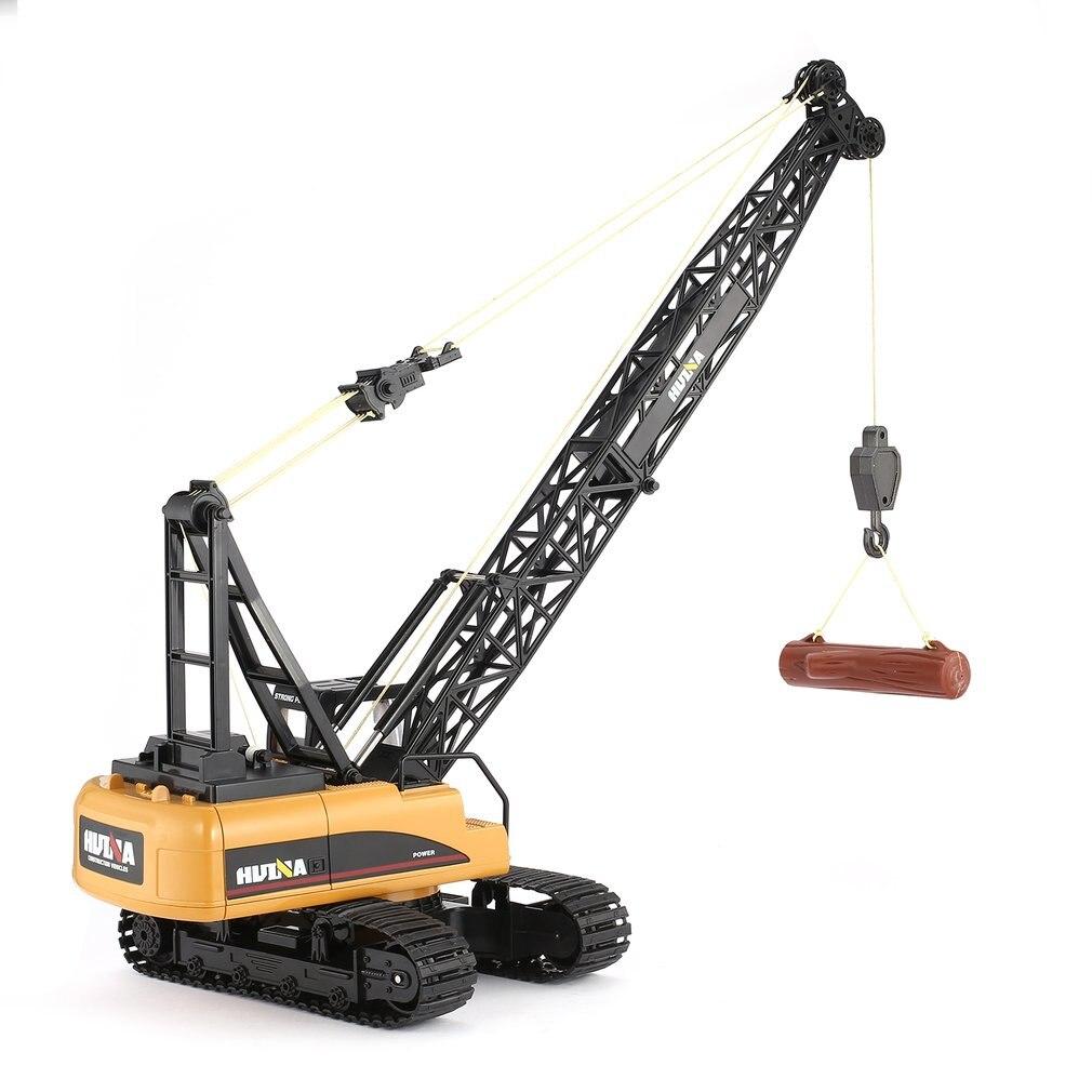 Camions RC HUINA jouets 1572 1:14 15CH RC alliage grue camion d'ingénierie RTR mobile crochet à flèche verrouillée bruit mécanique camions RC