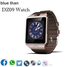 Blue than Smart Watch DZ09 Bluetooth Smartwatch Support SIM Card Phone Camera GSM TF Men Wristwatch
