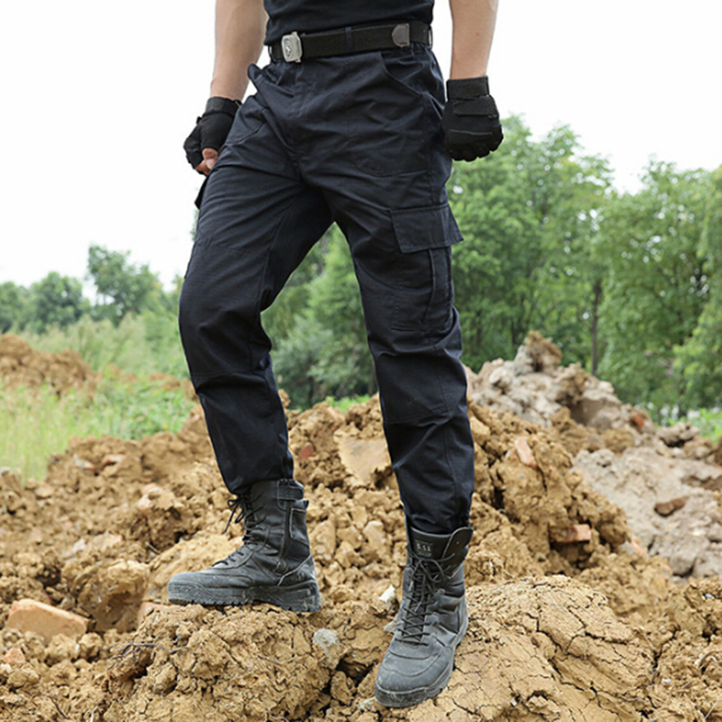 Tactical Pants Military Cargo Pants Men Knee Pad SWAT Army Airsoft Solid Color Clothes Hunter Field Combat Trouser Woodland