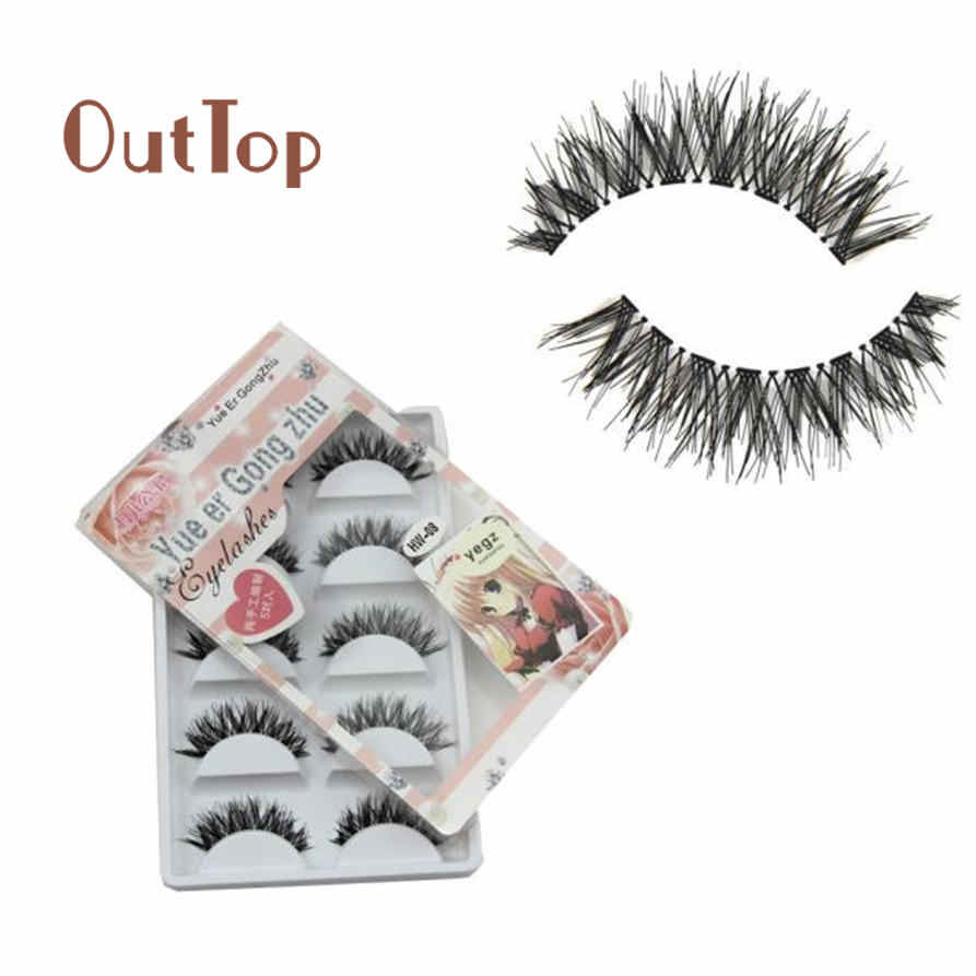 2f70fc53df8 False Eyelash OutTop Female 5 Pairs/Lot Cheap Crisscross Dense False  Eyelashes HOT eye lashes