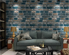 beibehang Fashion atmosphere pvc wallpaper retro brick pattern stereo wall paper hotel living room background 3d