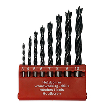 8pcs 3-10mm houtboren Hole Grooving Saw Carpenter Woodworking Tools Electric Spiral Drill Bit