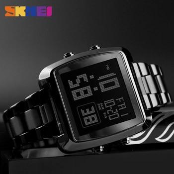 цена 2018 Fashion SKMEI Clock Mens Gold Watches Sports Watch Countdown LED Digital Display Men's Watch Wrist Relogio Masculino Saati онлайн в 2017 году