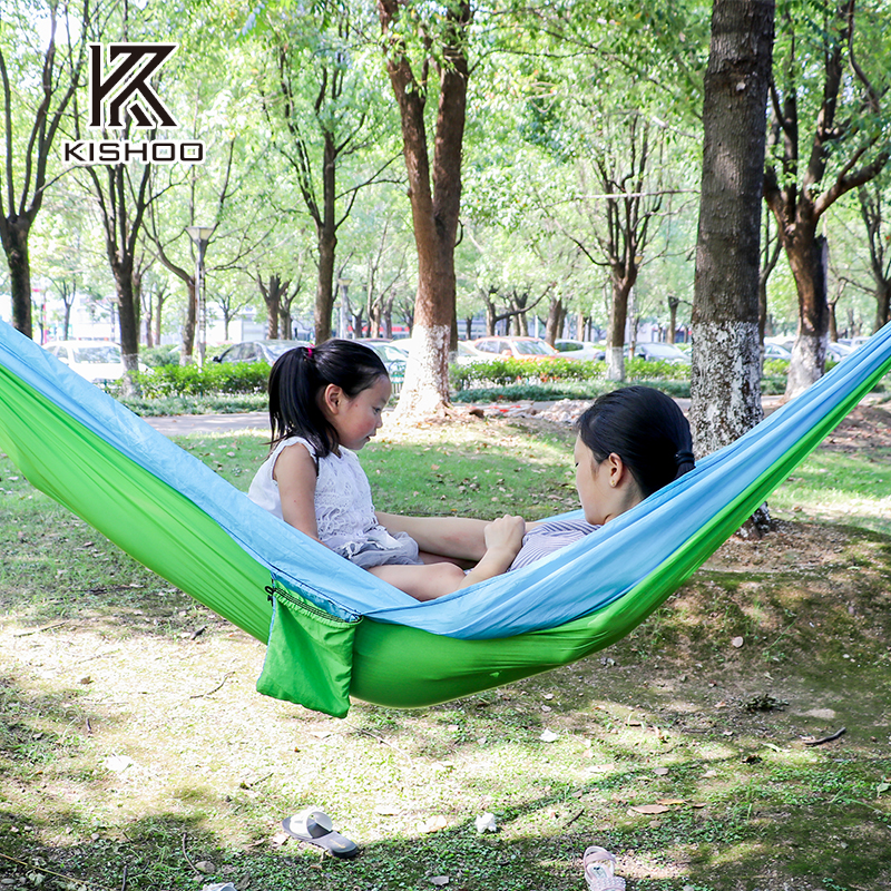 Two person Parachute Hammock Portable  hot sale survival Hammocks travel camping sleeping hammock Swing Canvas Stripe 270*140cm thicken canvas single camping hammock outdoors durable breathable 280x80cm hammocks like parachute for traveling bushwalking