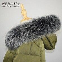 Cáo Cổ Lông Thú Khăn Tự Nhiên Cáo Cổ Lông Thú Cho Hood 100% Thật Cổ Lông Thú Khăn Tự Làm Mùa Đông Khoác Nỉ ms. minshu
