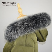 Fox Fur Collar Scarf Natural Fox Fur Collar for Hood 100% Real Fur Collar Scarf  Custom Made Winter Fur Scarf Ms.MinShu