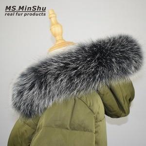 Image 1 - Fox Fur Collar Scarf Natural Fox Fur Collar for Hood 100% Real Fur Collar Scarf  Custom Made Winter Fur Scarf Ms.MinShu