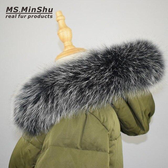 Fox Fur Collar Scarf Natural Fox Fur Collar for Hood 100% Real Fur Collar Scarf  Custom Made Winter Fur Scarf Ms.MinShu