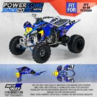 PowerZone Customized Team Graphics Backgrounds Decals 3M Custom Stickers For YAMAHA ATV 04 08 YFZ450R 001
