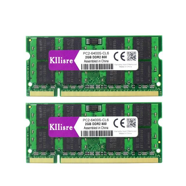 Kllisre 4 ГБ (2x2 ГБ) DDR2 800 мГц 667 мГц памяти ноутбука 200-контактный sodimm Тетрадь Оперативная память
