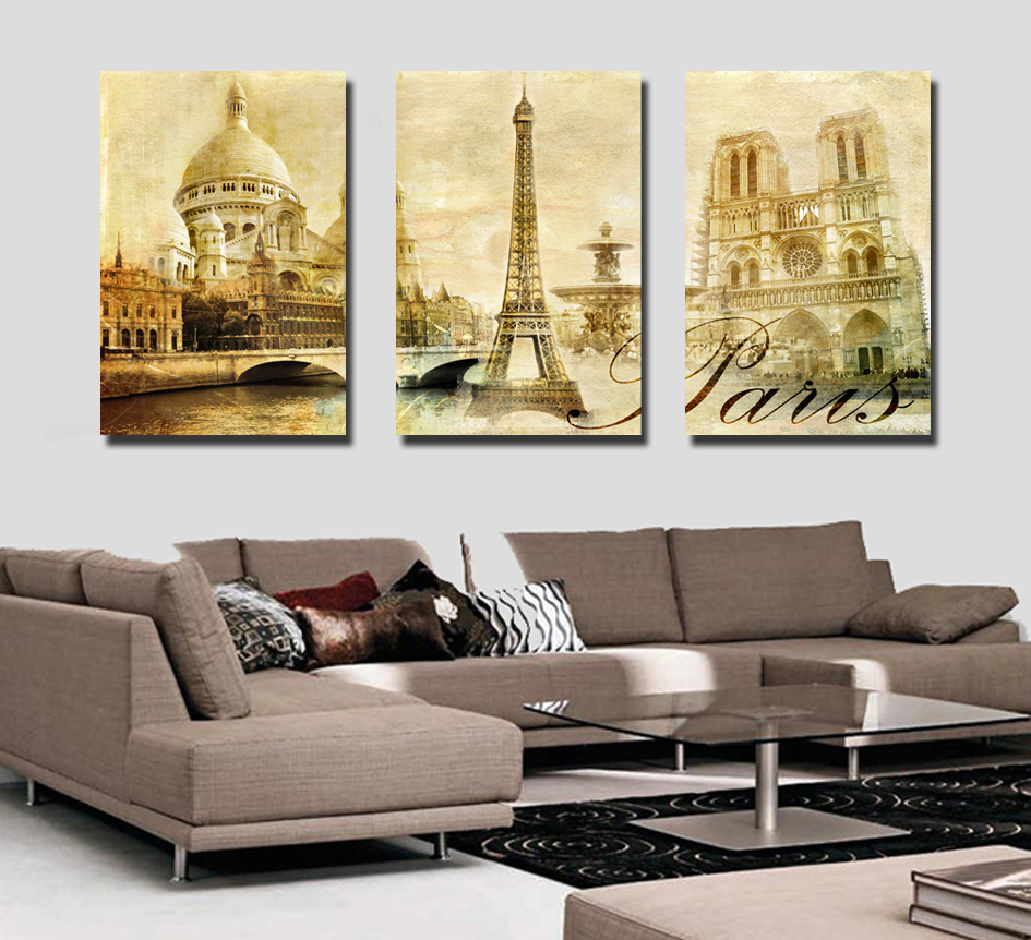 Buy hd canvas print wall decor paris and get free shipping on ...