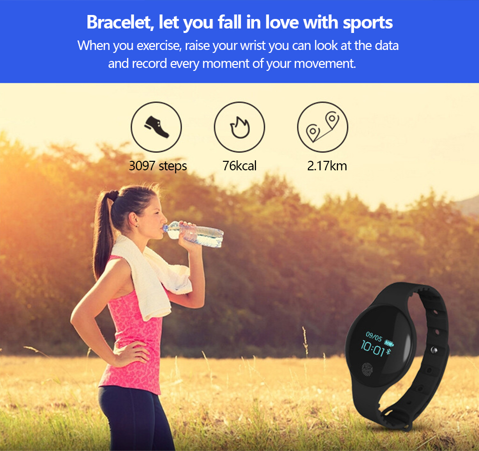 ALANGDUO H8 Smart Bracelet Children Style Touch Control Band ip65 Waterproof Sport Activity Tracker Fitness Wristbands Watches (9)