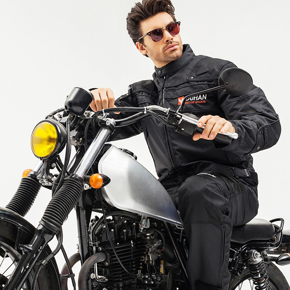 DUHAN Pantalon de Moto Hommes Coupe-Vent équipement de protection Motocross Pantalon Moto Pantalon de cyclisme Pantalon Moto Pantalon Avec Genou - 5