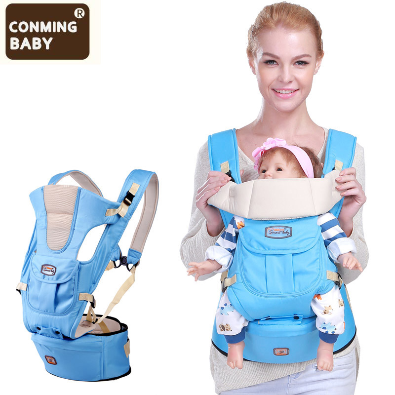5 In 1 Baby Carrier Ergonomic Newborn Backpack Hipseat Prevent O-type Legs Baby Kangaroos