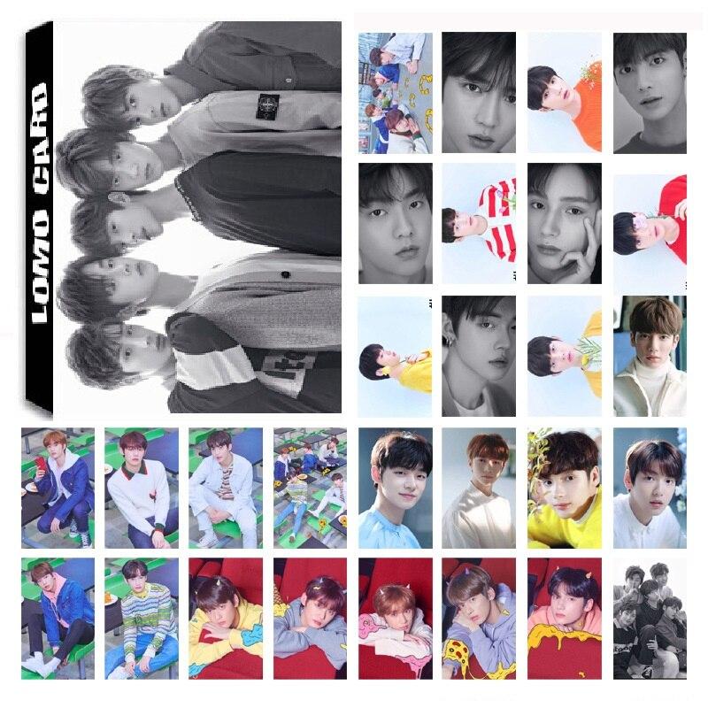 30Pcs/set KPOP TXT TOMORROW X TOGETHER Boys Team Album CROWN Photo Card PVC Cards Self Made LOMO Card Photocard