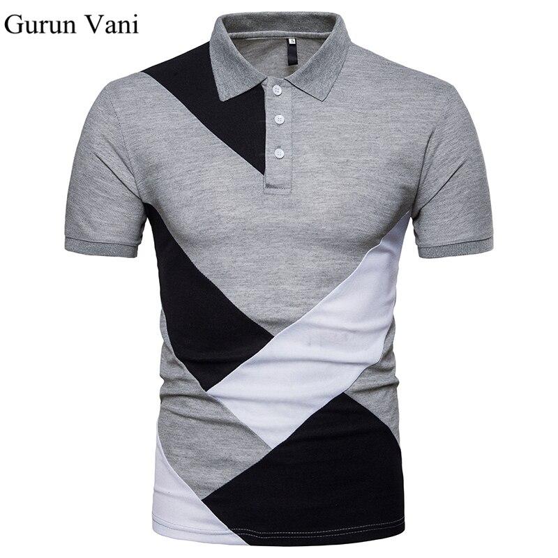 Große Größe Marke Kleidung Männer Poloshirt männer Geometrische ...