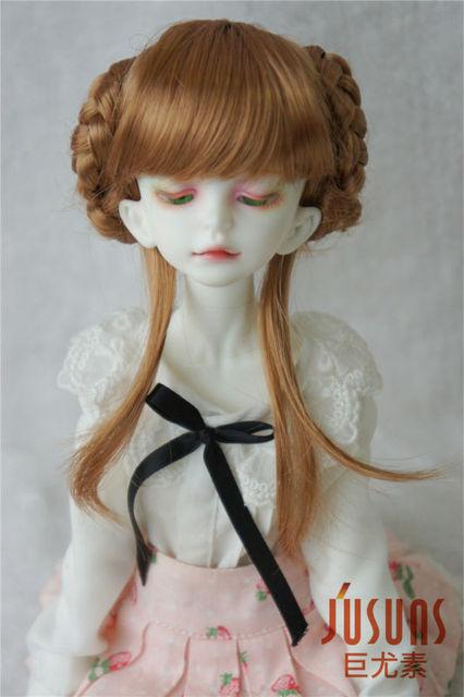 JD059 MSD wigs  1/4  BJD hair 7-8inch Haley Wigs for BJD Dolls Lovely Synthetic Fiber Doll Braided Wigs