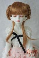 JD059 pelucas 1/4 BJD MSD pelo 7-8 pulgadas Pelucas de Muñecas BJD Haley Encantadora Muñeca de Trenzado de Fibra Sintética pelucas