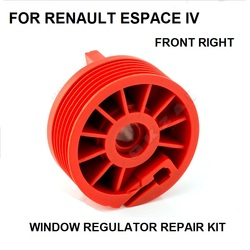 WINDOW REGULATOR ROLLER CLIP REPAIR KIT  FOR RENAULT ESPACE IV FRONT RIGHT NEW