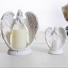 Home Decoration LED Angel Sculpture Battery Candle