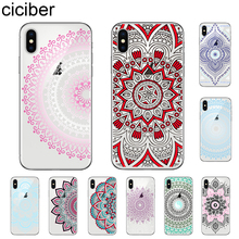 ciciber Floral Paisley Flower Mandala Henna Phone Cases For iPhone 11 Pro Max X XR XS MAX 7 8 6 6s Plus 5 5S SE Soft TPU Cover
