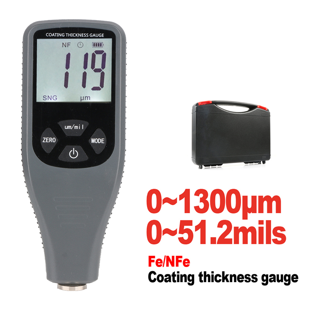 Hot Sale Coating Thickness Gauge Digital Coating Paint Thickness Gauge Meter Tools Ferrous and non-Ferrous 2 in 1 RZ240 non ferrous alloys