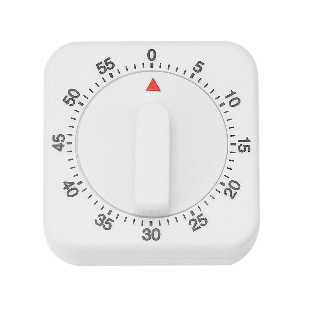 Alarm Square Clock Manual Timer Home Kitchen Cooking Timer Desktop