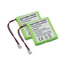 MELASTA 2Pack 2.4V 600mAh NiMH Battery Pack for Medion MD818
