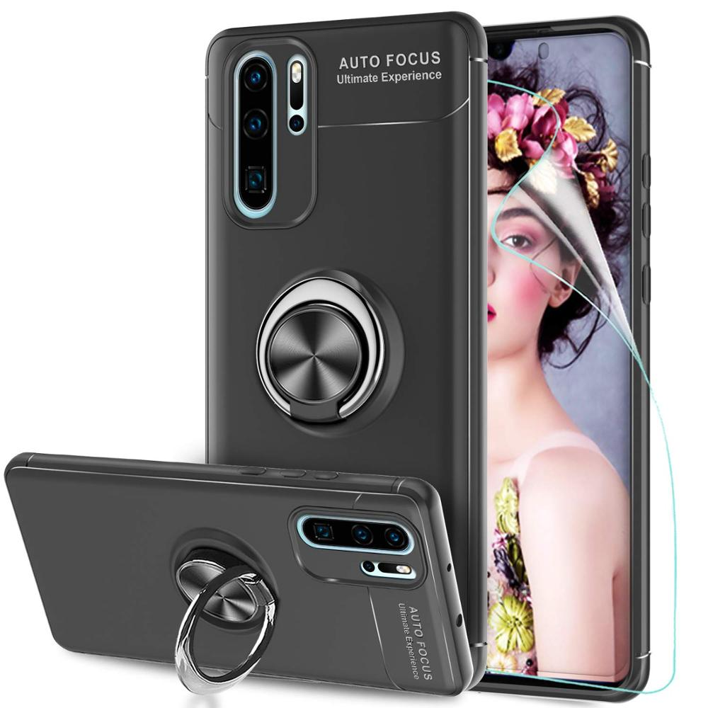 <font><b>Case</b></font> for Huawei P30 P20 Mate 20 Mate 10 Lite Pro Kickstand Cover For Huawei <font><b>Honor</b></font> Veiw 20 10 10i Lite Pro <font><b>8X</b></font> 7X 8C 8A Ring <font><b>Case</b></font> image