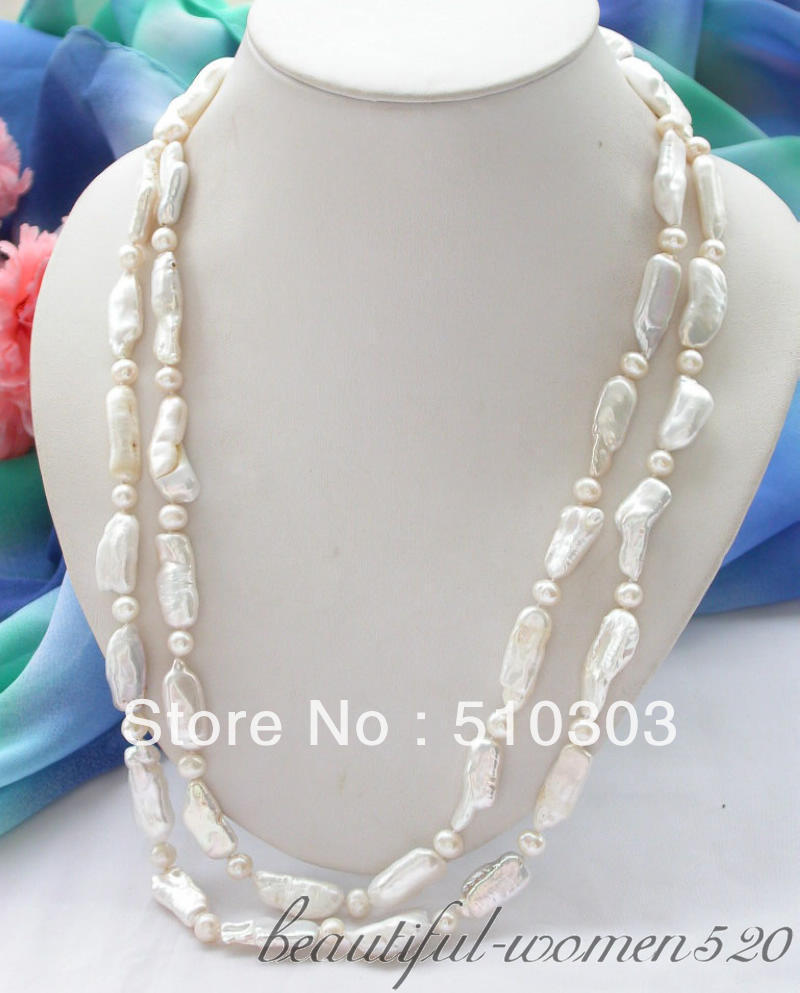 50 26 mm white biwa dens round freshwater cultured pearl necklace