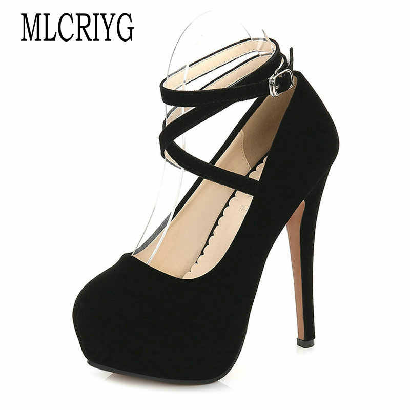 Size 35-46 2019 New Autumn Spring Women Elegant Pumps High Heels Sexy Party Dinner Shoes Woman Female Soft Classic Footwear