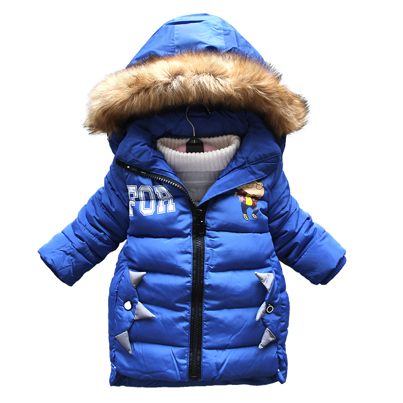 BibiCola `Girls winter clothing warm Down jacket for boys clothes Winter Thicken Parka real Fur Hooded Children Outerwear Coats 2018 girls clothing warm down jacket for girl clothes 2018 winter thicken parka real fur hooded children outerwear snow coats