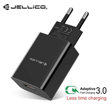 Jellico Sạc Nhanh 3.0 Nhanh Sạc Điện Thoại Di Động Cho Iphone Du Lịch EU Cắm Tường USB Adapter Sạc Cho Samsung Xiaomi huawei