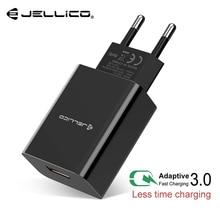 Jellico carga rápida 3.0 rápido carregador do telefone móvel para o iphone viagem ue plug adaptador de carregador usb parede para samsung xiaomi huawei
