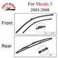 Combo da Borracha de Silicone Frente E Limpadores de Palhetas Do Limpador Traseiro Para Mazda 3 2003-2008.Windscreen Acessórios Do Carro