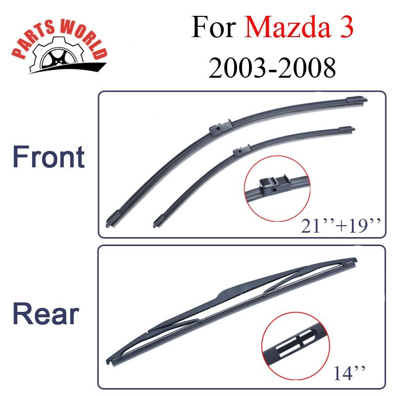 Mazda 3 2003 2003 2005 2005 2007 2007 2008 Ön və Arxa silecek bıçaqlar