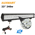 Auxmart 23 inch LED Light Bar CREE Chips 240W 5D Offroad Driving Work Light 4x4 Trailer SUV Golf Pickup Truck Front Bumper