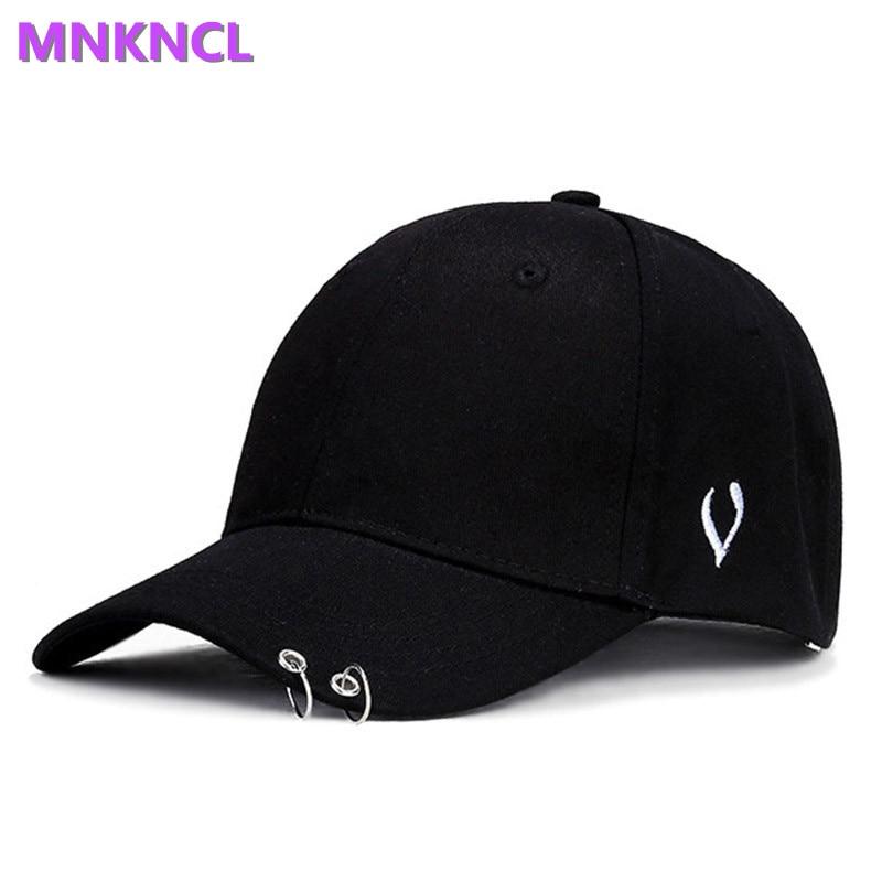 Hot selling 2017 New CL bigbang G-gdraon BTS JIMIN SUGA V Fashion K POP Iron Ring Hats adjustable Baseball cap100% cotton new time cl е830