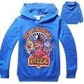 2016 Meninos Roupas T-shirt 4-14Y Cinco Noites no Freddys Novo Hoodies Bebê Dos Desenhos Animados Caçoa o Tshirt Longo Da Luva Do Esporte Roupas Crianças