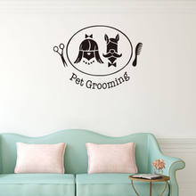Pet Shop Decor Wall Stickers Removable Dog Grooming Salon Wall Decal High Quality Wall Paper Hot Sale Removable Mural SA484(China)