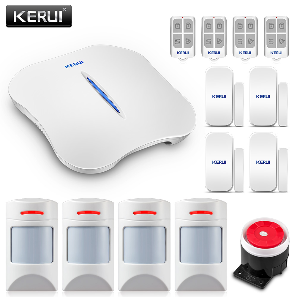 KERUI W1 WIFI Home Burglar Alarm Systems With Anti Pet PIR Sensor Detector PSTN alarm systems security home Motion Sensor