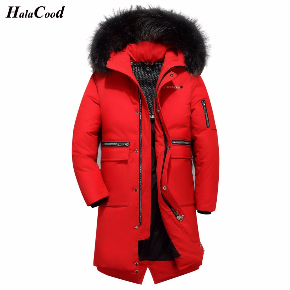 Mens Hooded Long Duck   Down   Padded Jackets Plus Size Man Thick Winter   Down     Coats   Male Fashion Long Overcoat Keep Warm Outerwear