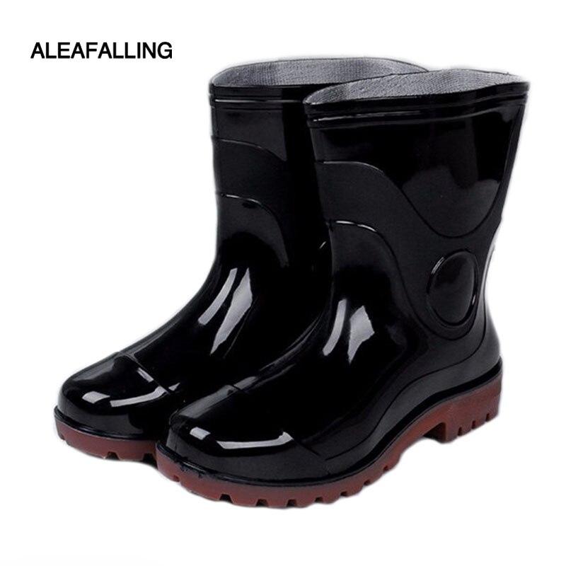 Aleafalling Regen Stiefel Garten Mädchen Der Plattform Mittler-kalb Wasserdicht Motorrad Alle-saison Herd Hohe Rohr Allgleiches Schuhe W068 Modernes Design