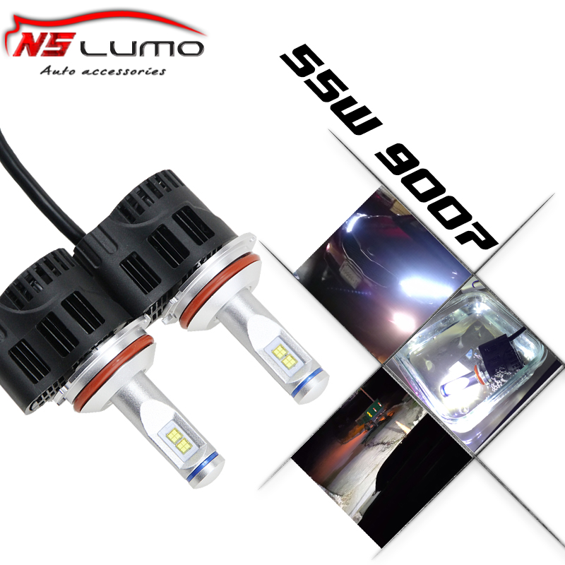 New led auto car headlamp 9007 HB5 55W 5200Lm high power hi lo beam design led headlight bulbs 9007