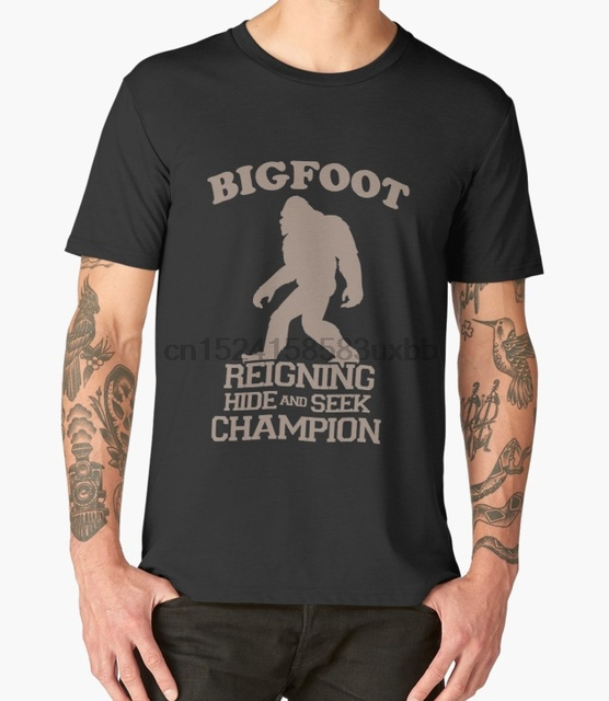 753b6d3881c4 Printed Men T Shirt Bigfoot Hide And Seek World Champ Sasquatch Funny T- Shirt(1) Short-Sleeve Women T-Shirt