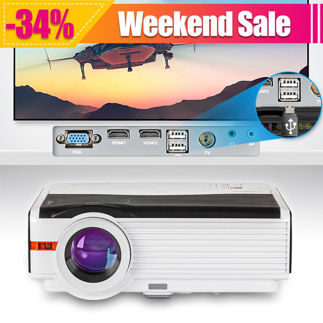 LED LCD Home Cinema Projector 5000 Lumens Mobile Proyector Full HD Video Proyector For Smartphone PC Laptop Xbox iPhone