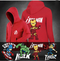 New Winter Jackets and Coats Marvel hoodie Captain America /Iron Man Hooded Thick Zipper Men Sweatshirts