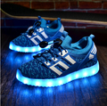 2017 Kids Sneakers Children's USB Charging Luminous Lighted Sneakers Boy/Girls LED lights Children sport Shoes Running shoes